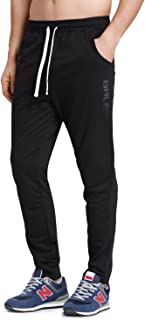 Men's Tapered Athletic Running Pants Joggers Workout Sweatpants with Pockets