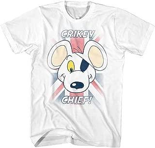 Danger Mouse Men's Crikey Chief T-shirt Medium White