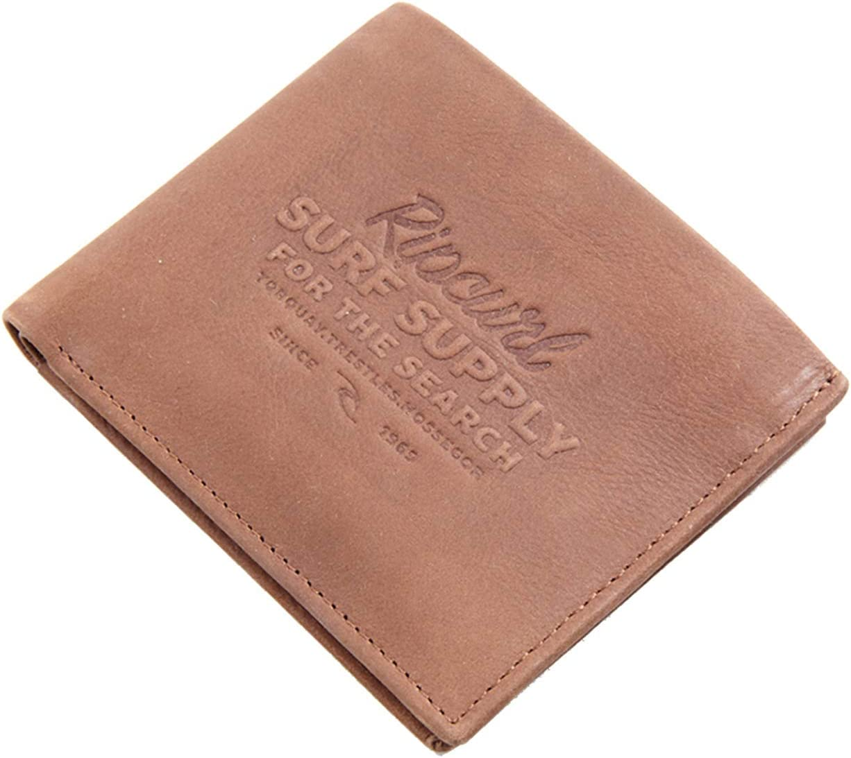 Rip Curl Surf Supply RFID 2 in 1 Leather Wallet in Brown