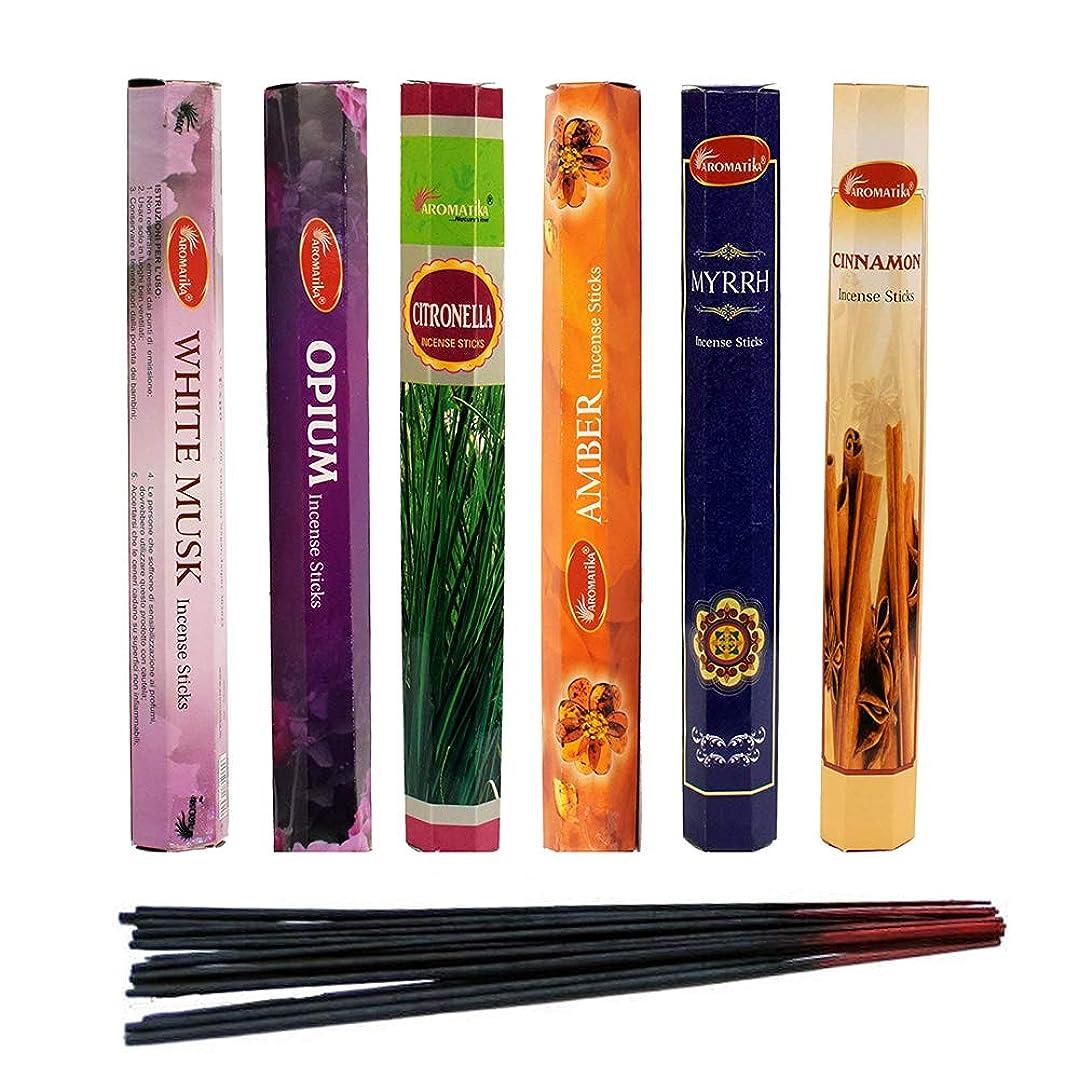 傷跡空洞立法aromatika Incense Sticks Best Sellers 6ボックスX 20スティック、コンボパック、合計120?Sticks ( 120?Sticks )