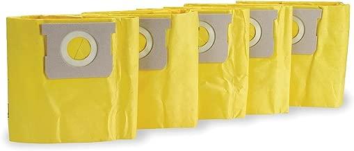 DAYTON Filter Bag, Paper, 4 qt., PK5 #1UFP3