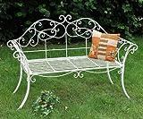 DanDiBo - Banco de jardín Romance blanco 111111833,...
