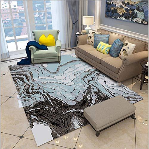 HXJHWB alfombras con Antideslizantes - Exquisita Pintura en Tinta Impresión 3D Alfombra Interior Sala de Estar Estudio Oficina del Hotel-El 140CMx200CM