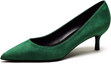 green kitten heel