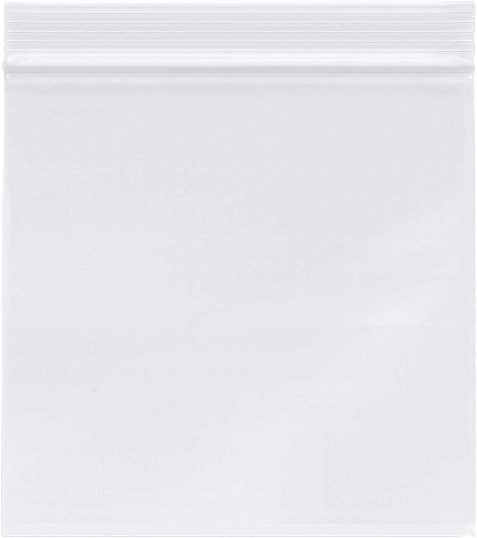 Plymor Heavy Duty Plastic Reclosable Zipper 4 Bags x Mil 6