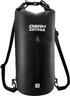 OSAH DRYPAK Dry Bag Wasserdichter Packsack 5L 10L 15L 20L 30L wasserdichte Tasche Sack Beutel Lang Schulter Verstellbarer Schultergurt für Kajak Boot Angeln Rafting Schwimmen Wassersport Treiben