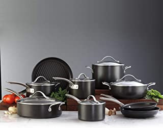 Kirkland Signature Hard-Anodized Aluminium Cookware 15 Piece Set, anodised