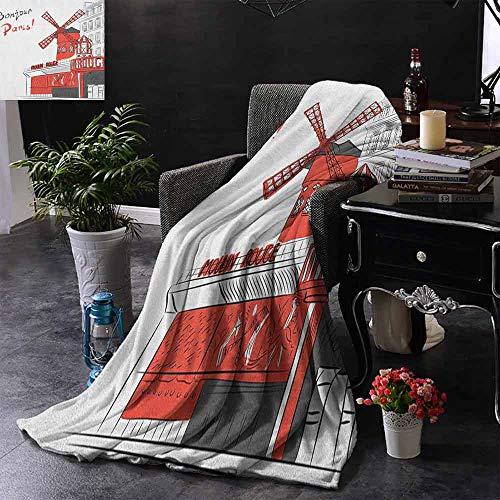 ZSUO bank deken sexy lippenstift kus met toeristische attractie toren schets krant kijken achtergrond winter pluche microvezel stof