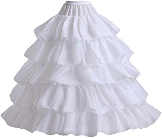 5 Slip Ruffles 4 Hoops Petticoat Underskirt for Bridal Wedding Gown Evening Dress
