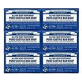 Dr. Bronner's - Pure-Castile Bar Soap (Peppermint, 5 ounce) - Made...