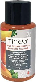 Timely - Quitaesmalte para uñas sin acetona con vitaminas E y A y proteínas de seda tamaño pequeño 150 ml