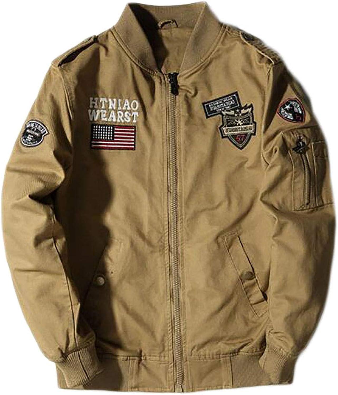 - XiaoTianXinMen XTX Men Cotton Loose Loose Loose Combat Plus Size Washed MA-1 Flight Bomber Jacket ec174e