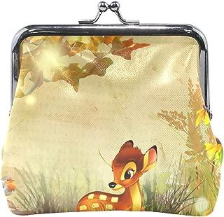 Coin Purse Fall Bambi Autumn Flowers Womens Wallet Clutch Bag Girls Small Purse