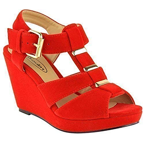198aac7c2be Red Wedge Shoes: Amazon.co.uk
