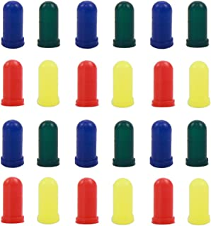 XPT01 100pcs Blue/ Red /Yellow /Green Caps / Covers for 3mm Grain of Wheat Bulbs LEDs for Model Train Layout New