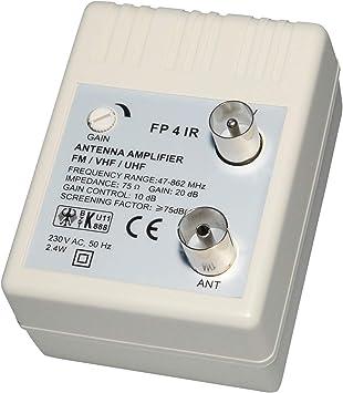 Transmedia FP4iRL - Amplificador para antena (47-862 MHz, 20 ...
