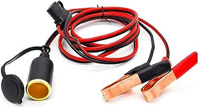 BAGGRA 12V 24V Cigarette Lighter Battery Clip-on Car Cigarette Lighter Socket Adapter Car Battery Pump Alligator Extension clip connector