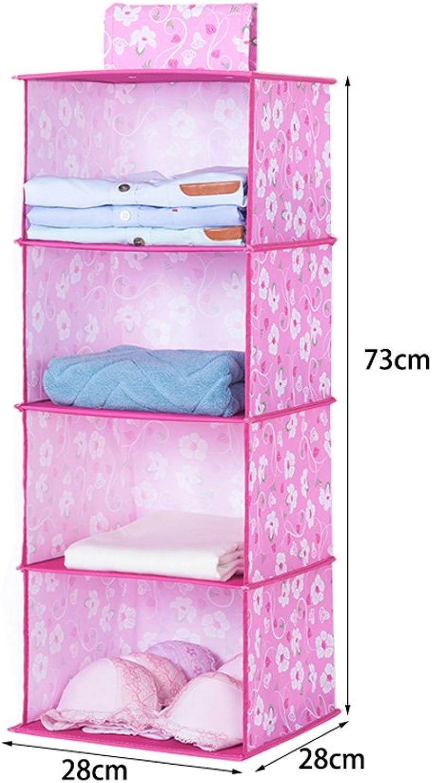 MJB Caja de Almacenamiento de Ropa, Dormitorio Colgante de Tela de múltiples Capas Percha de Colgar 73cm (Color   C)