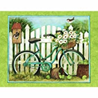 Lang Blue Bicycle ボックス入りノートカード Susan Winget 4 x 5インチ カード13枚と封筒 (1005302)