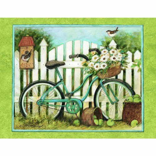 Lang Blue Bicycle Boxed Notecard by Susan Winget, 4 x 5 Inches, 13 Cards and Envelopes (1005302)