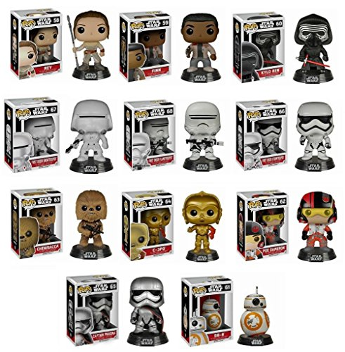 Funko POP! Star Wars Mystery Pack - 6 Random Stylized Vinyl Bobble-Head Set NEW