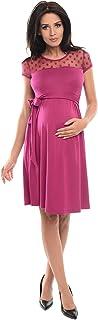 Purpless Maternity Vestido de Maternidad de Manga Corta del