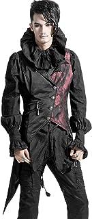 Punk Rave Mens Gothic Victorian Asymmetrical Waistcoat Sleeveless Tailcoat Vest
