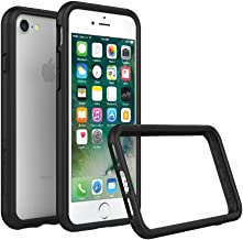 RhinoShield Bumper Case FOR IPHONE 8 / IPHONE 7 [NOT Plus] [CrashGuard] | Shock Absorbent Slim Design Protective Cover [3.5 M / 11ft Drop Protection] - Black