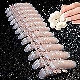 Faux ongles de courts et naturels, 240 PCS 12 tailles différentes, kit faux ongles, french manucure Naturel Manucure Ongles Nail Art Tip Décor Outils faux ongles et accessoires