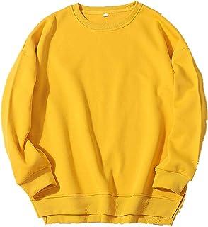 Suéter grueso de felpa para mujer, cuello redondo suelto, monocromo
