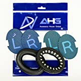 Replacement Ear Cushions for Bose Quiet Comfort 25 (QC25) Headphones. Complete with Original Style QC25 scrims AHG Blue/Black scrims Both with L and R Lettering (QC25 Ear Pads, Black)
