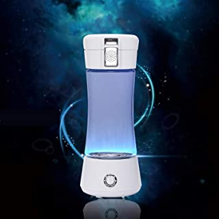 VICARKO Portable Hydrogen Water Bottle Ionized Water Generator 3-Min Healthy Water Maker and Purifier, Anti-Aging, Energetic, Sports, Rechargeable Battery, 250ml, Blue