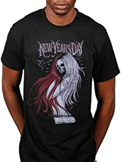 Official New Years Day Long Hair Skull T-Shirt