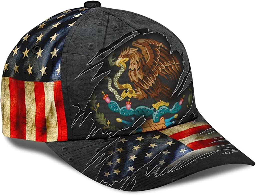 Personalized Name 3D Printed Unisex Cap Hat Mexican-American Classic Cap 659 Text Name Customized Classic Cap Snapback Cap Baseball Cap for Men Women Sports Outdoor