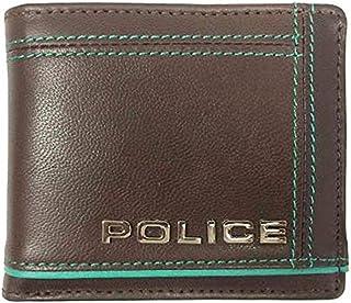 POLICE ポリス COLORS 二つ折り財布 ショートウォレット 牛革 チョコ PA-58400-29