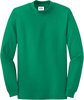 Mens Mock Turtleneck Long Sleeve Shirt