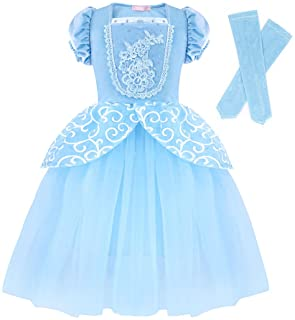 AmzBarley Princess Cinderella Costume for Toddler Girls Dress up Birthday Party Cosplay Outfits Halloween Christmas Clothe...