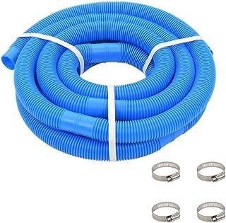 Festnight Manguera de Piscina con Abrazaderas Manguera para Aspirar Azul 38 mm 6 m
