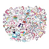 FNGEEN Cute Unicorn Stickers Pack 100pcs Vinyl Laptop Water Bottle Stickers for Girls Motorcycle Luggage Cup Graffiti Bomb Decals Skateboards Snowboard Unicorn Gifts