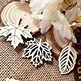 DIY Ornaments 50-52mm Mixed Pattern Sewing Painting Wooden Leaves Scrapbooking Embellishment Wood Slice Home Decoration