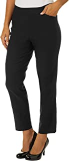 Womens Solid Luxe Stretch Pull On Pants