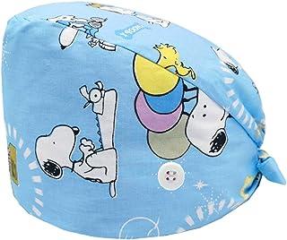 Cloudkids Sombrero Enfermera Unisex Ajustable Robin Hat Estampado Animal Sombrero Quirofano Reutilizable Dentista Gorro Go...