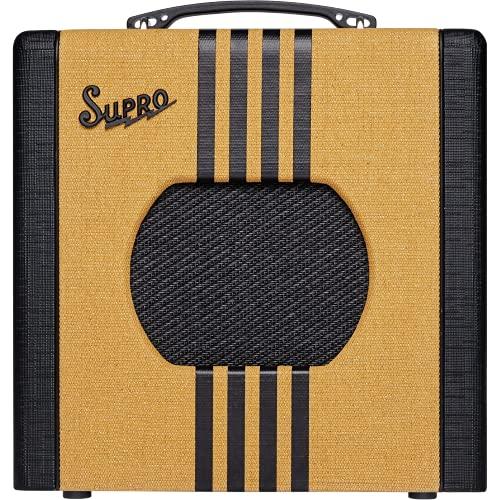 Supro Delta King 8 1x8-inch 1-watt Tube Combo Amp - Tweed and Black