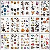 SZSMART Halloween Tatuaggio Temporaneo per Bambini e Adulti Body Art Tatuaggi Trucco per Halloween Partito Puntello e Adesivo Cosplay, Accessori per Feste per Bambini