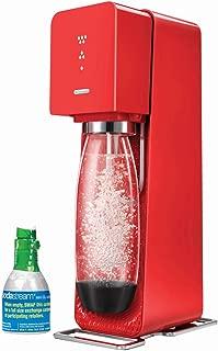 SodaStream Source Home Soda Maker Starter Kit, Red
