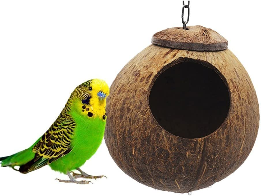 Natural Coconut Hideaway All stores are sold Parrot Max 42% OFF Birds Bird Nest Decorative Toys