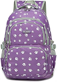 Students School Bag Lovely Dog Paw Large Capacity Backpack Waterproof