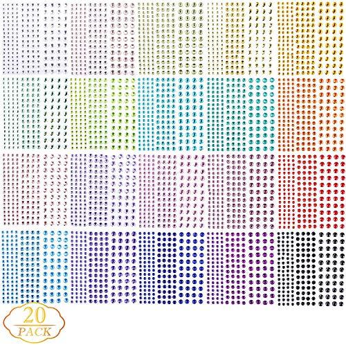 Rosi home ラインストーンステッカー 約3300粒 3Dネイルシール ジュエルステッカー DIYラインストーン 3Dネイルダイヤモンド 可愛い クリスマス 自己粘着性 ネイルデコレーション 貼り紙 スマホ飾り用 フェイスステッカー
