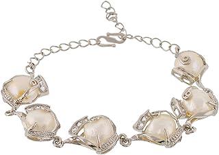 Women Girls Diamond Heart Pendant Bangle Elastic Bracelet Decor J