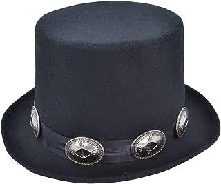 Black Rocker Style Top Hat